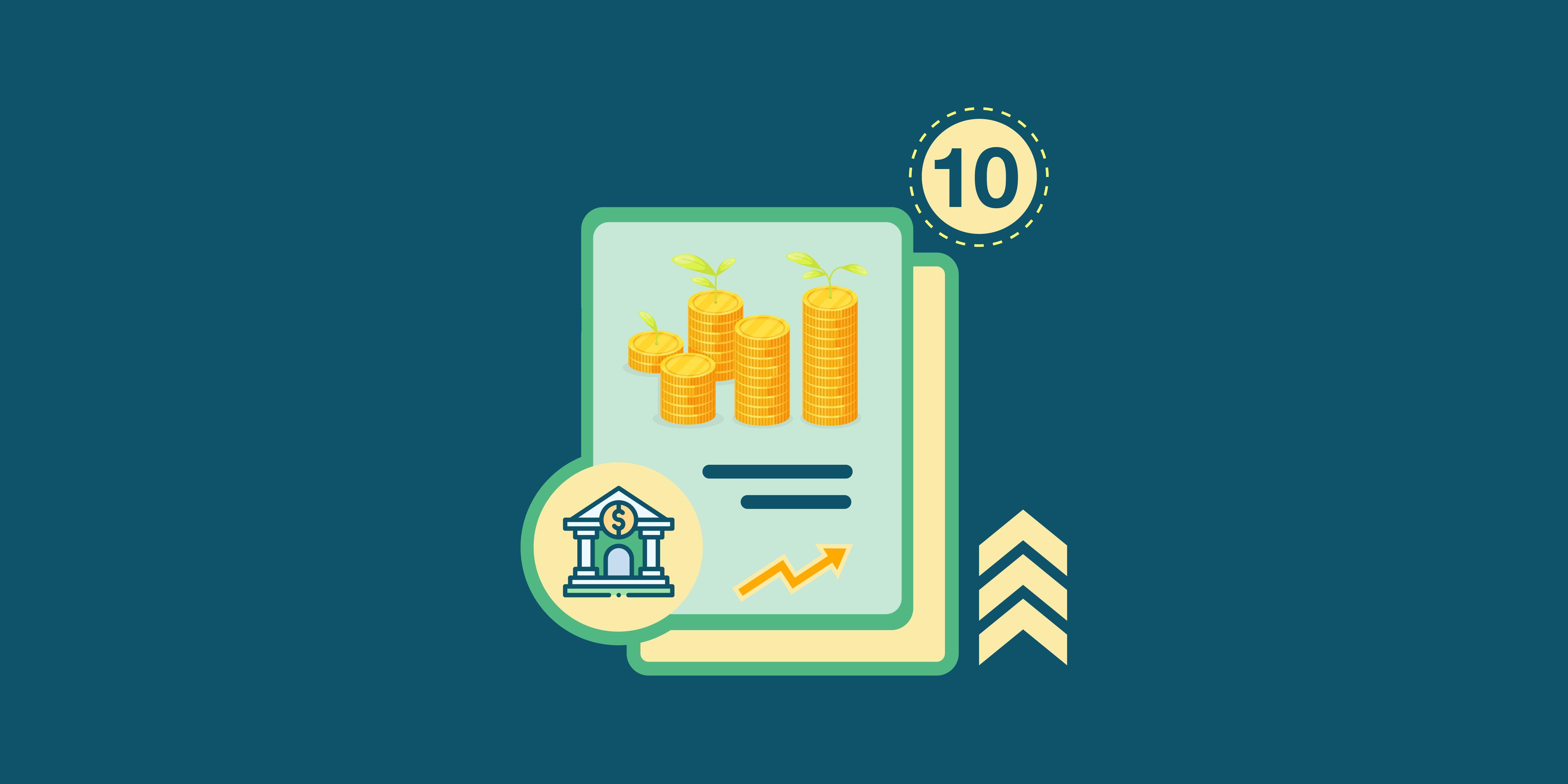 أعلى 10 شهادات استثمار ثلاثية فى شهر أكتوبر 2021